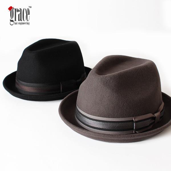【即納】grace hats グレースハット ウールフェルトハット 中折れハット VINCENT HAT 帽子