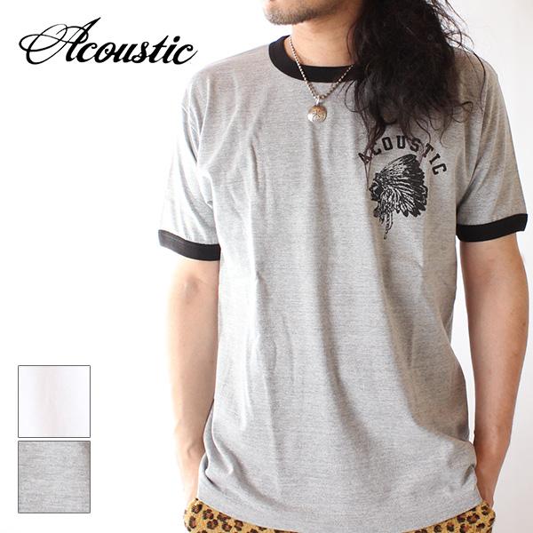 【即納】Acoustic アコースティック メンズ リンガーTシャツ カットソー INDIAN RINGER TEE