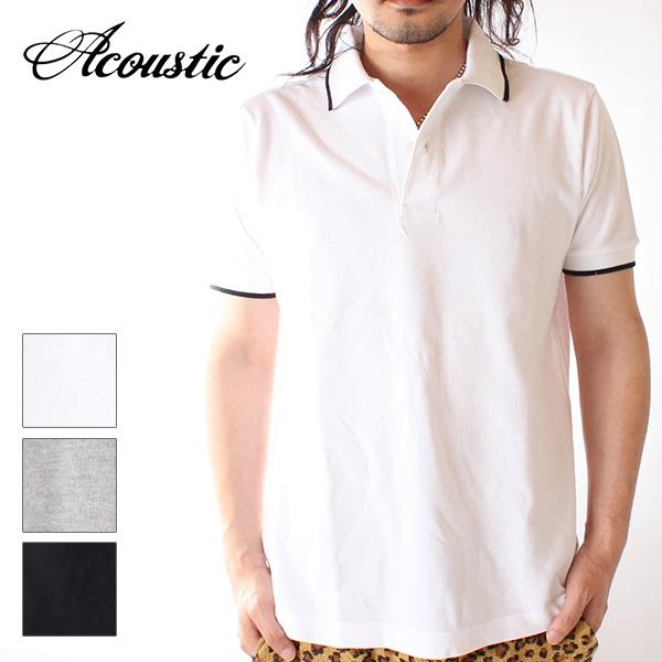 【即納】【送料無料】Acoustic アコースティック メンズ 鹿の子ポロシャツ 半袖 MADE IN CANADA