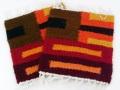 ペルー製 手織りウールコースター ワリ