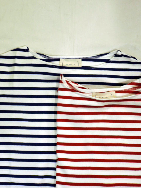 cantate (カンタータ) 18SSCA098 Horizontal Stripe Shirt WHITE×BLUE、WHITE×RED