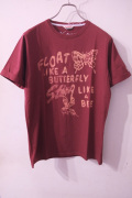 Vintage 55 The Greatest Tee shirt / Float like a butterfly, Sting like a bee. *BORDEAUX����ϥ�ɡ����� �ץ���T�����  ��different���Ρ�