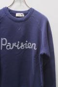 MAISON KITSUNE メゾンキツネ SWEAT SHIRT Parisien *NAVY × SILVER STITCH スウェット パリジャン