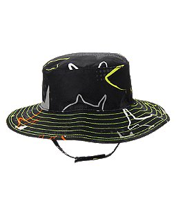Neon Shark Bucket Hat