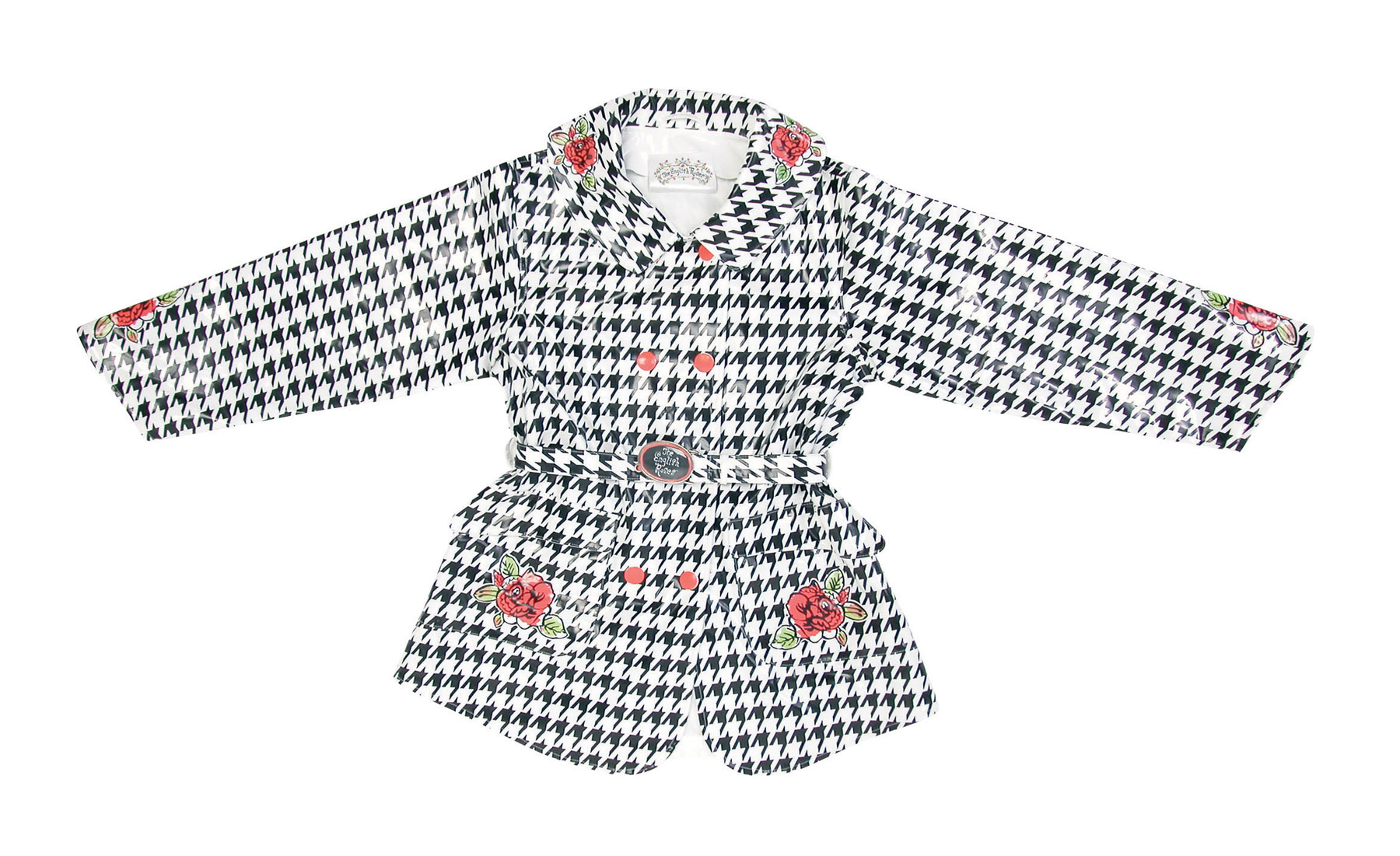 Houndstooth Rain Coat