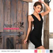 タイト系 ワンピース ミニドレス バンテージ ストレッチ 切り替え 胸元・背中開き|高級キャバドレスAngelR(エンジェルアール)|(AR7901)