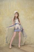 レース刺繍の上品2Wayドレス(AR3222)