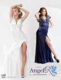 レース&ビジュー飾りロングドレス|高級キャバドレスAngelR(エンジェルアール)|(AR3536)