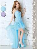 【最新作ドレス】レース生地が上品,背中開き,ベアロングミニドレス(AR4106)