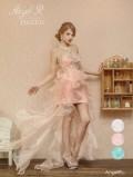 フィッシュテールカットインミニロングドレス|高級キャバドレスAngelR(エンジェルアール)|(AR5105)