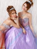 煌きビジューウエディングロングドレス(AR5215)