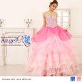 ビジュー&スパンコールぎっしり 豪華オーガンジー折り重なる 姫ウエディングドレス|高級キャバドレスAngelR(エンジェルアール)|(AR6214)