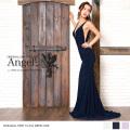 ロングドレス 脇下・胸元スリット ストレッチ生地 マーメイドドレス|高級キャバドレスAngelR(エンジェルアール)|AR7705