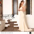 ロングドレス レース刺繍 背中開き マーメイドドレス|高級キャバドレスAngelR(エンジェルアール)|AR7706