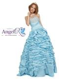 くしゅくしゅスカートのウェディングロングドレス|高級キャバドレスAngelR(エンジェルアール)|(M10057)