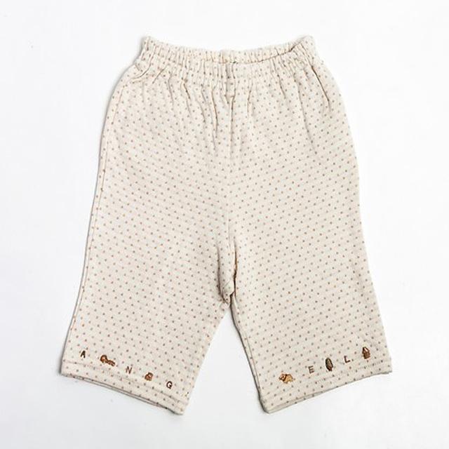 オーガニックコットン100% 水玉柄刺繍パンツ