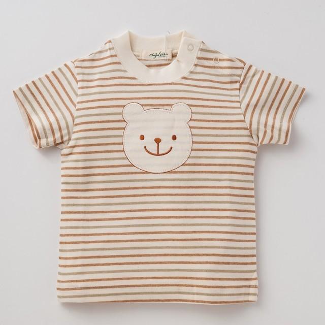オーガニックコットン 三色ボーダーTシャツ