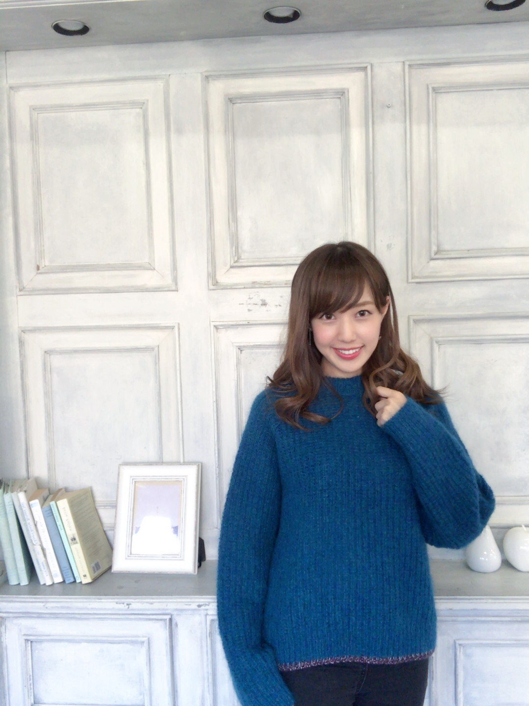 【selva secreta】MOHAIR KNIT(blue)