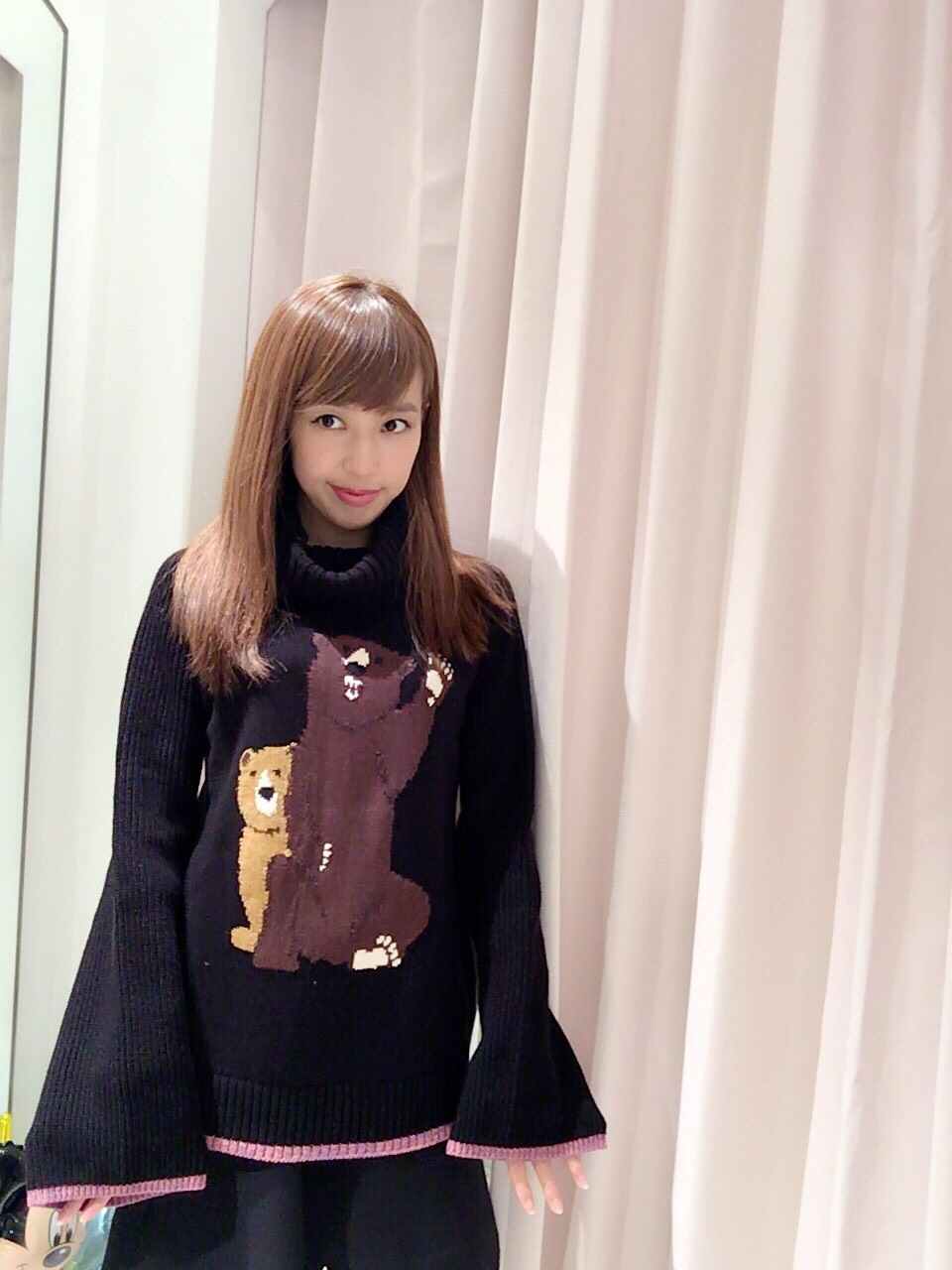 【selva secreta】BEAR KNIT(black)