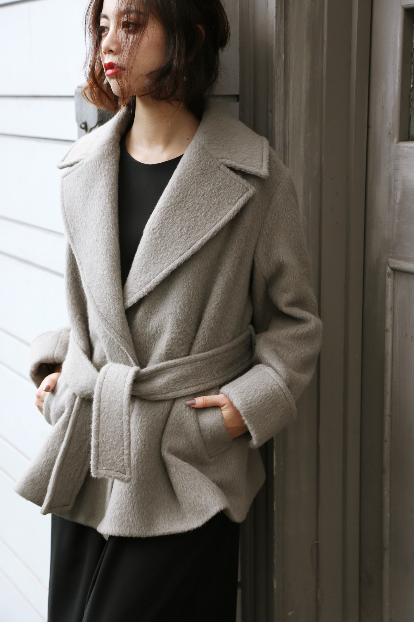 【selva secreta】ALPACA WOOL SHORT COAT(beige)