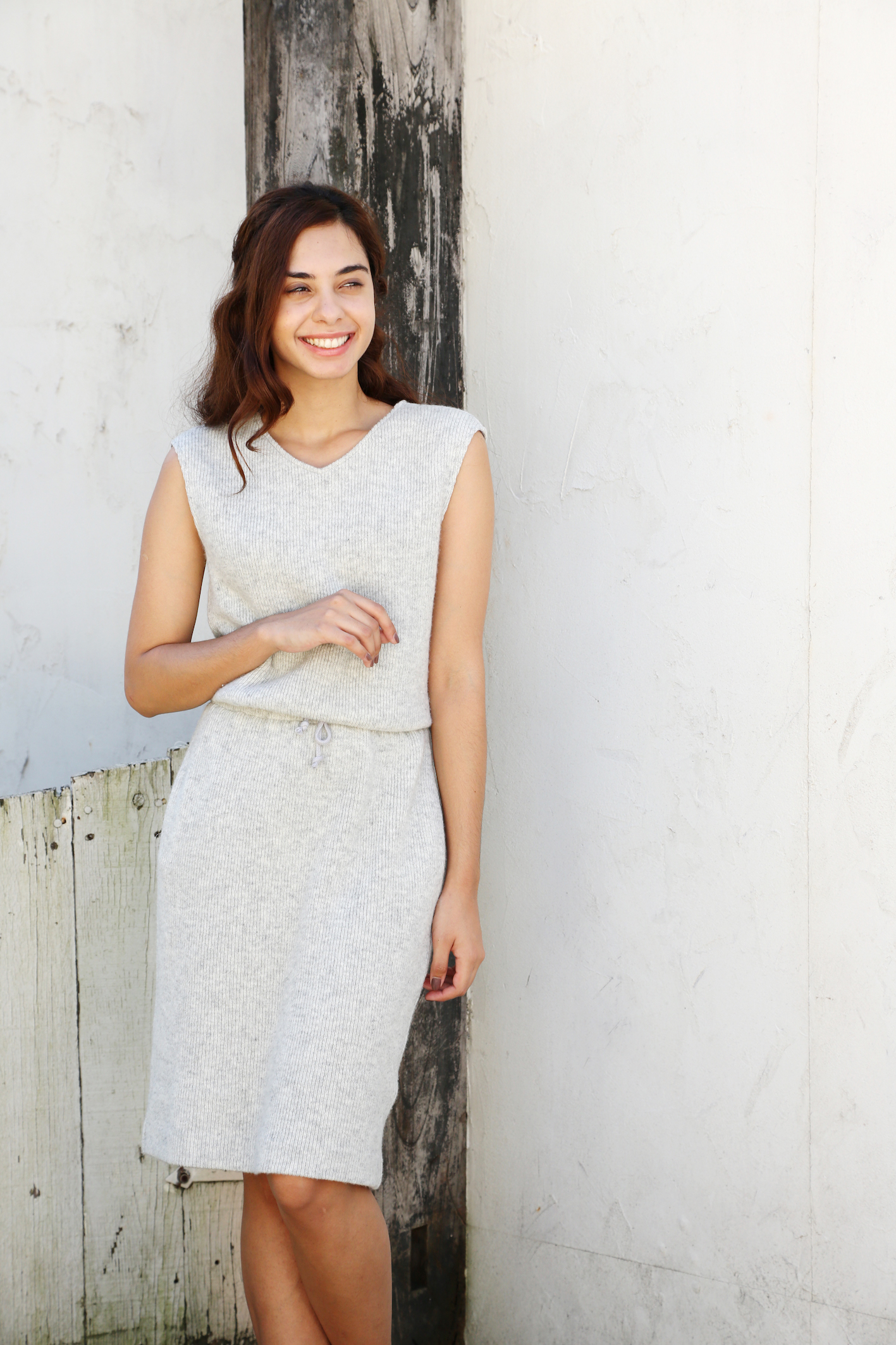 【selva secreta】KNIT DRESS(gray)