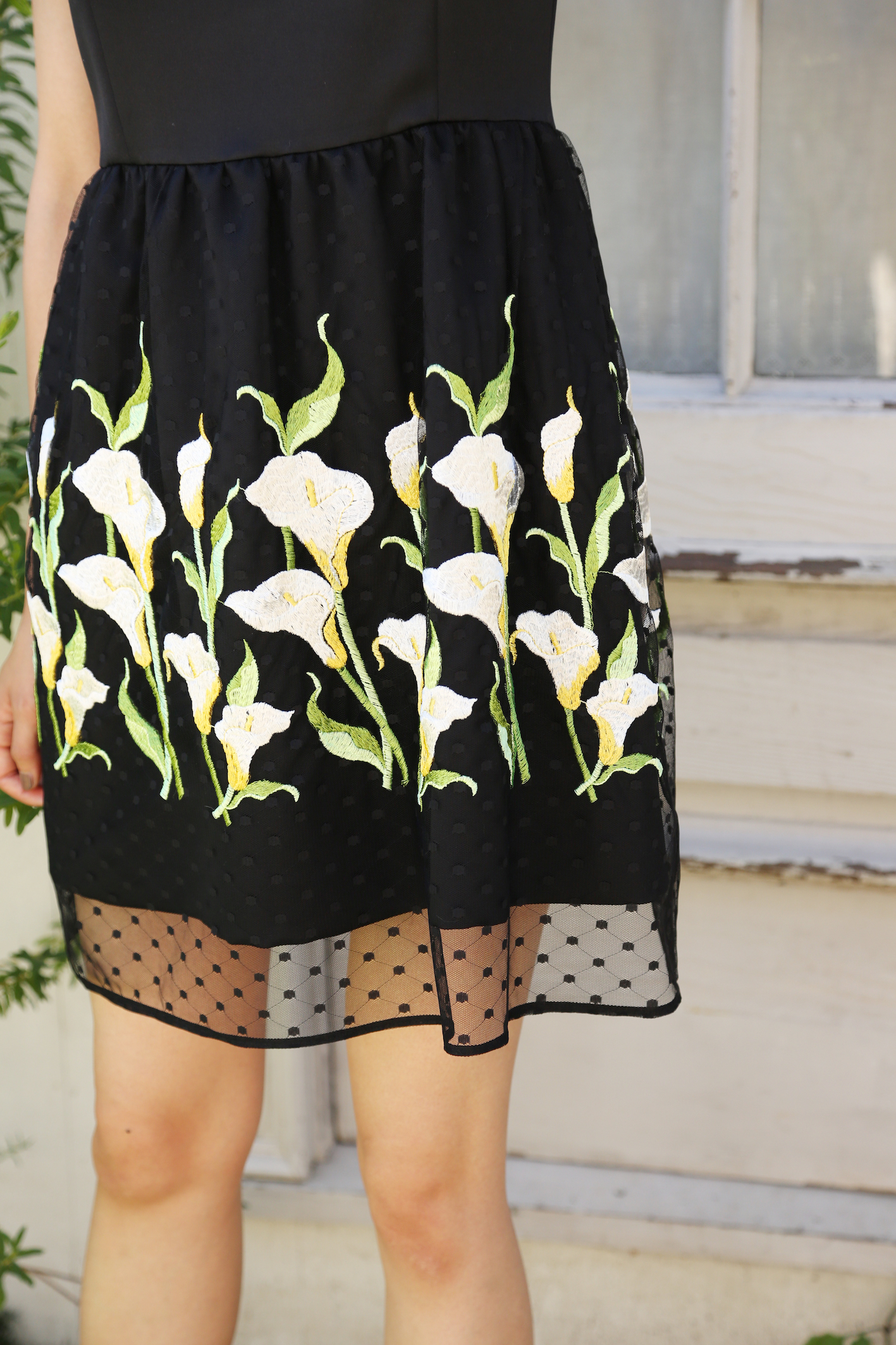 【限定発売】【selva secreta】FLOWER DRESS(black)