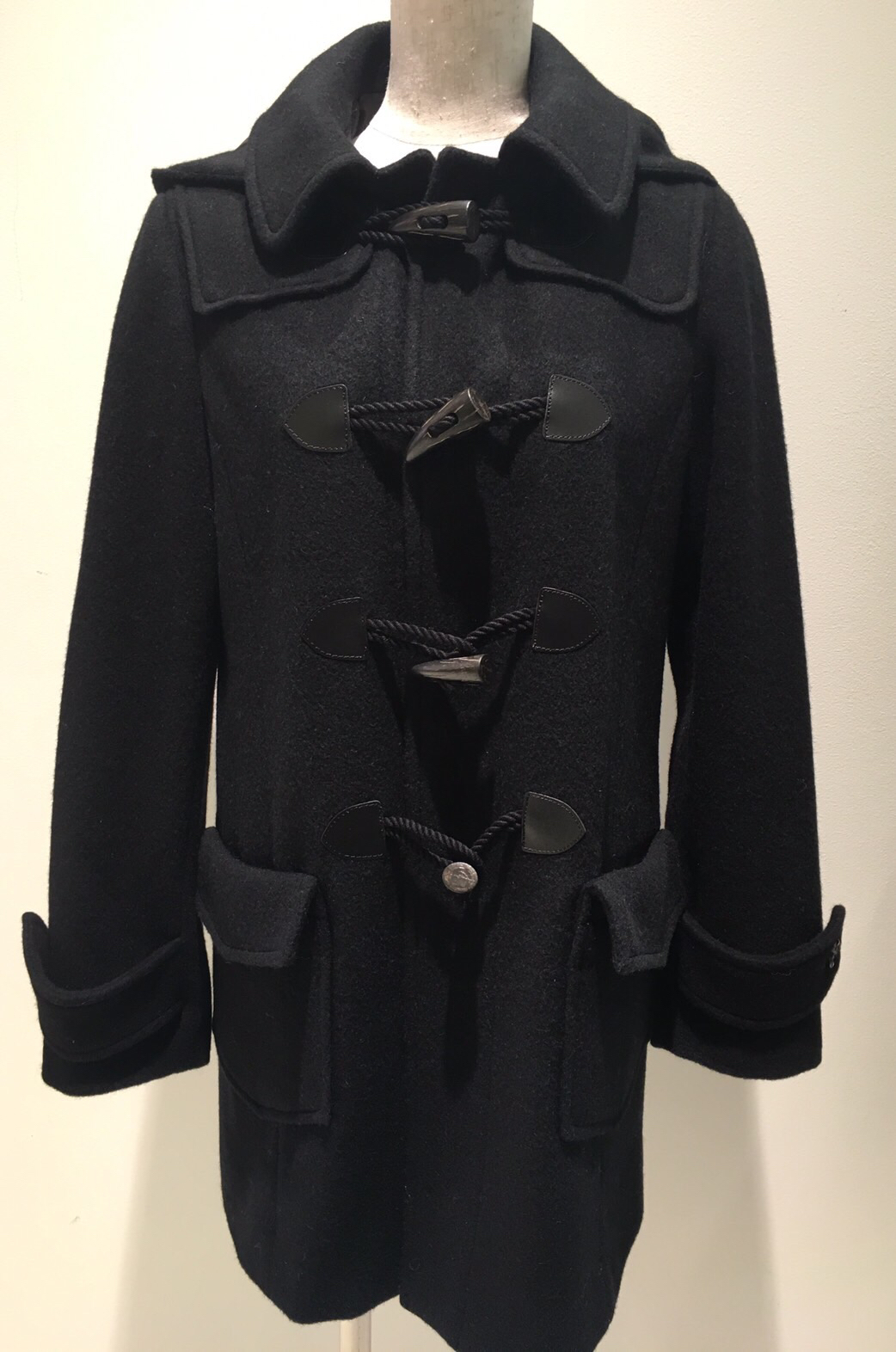 【selva secreta】DUFFLE HOOD COAT (black)