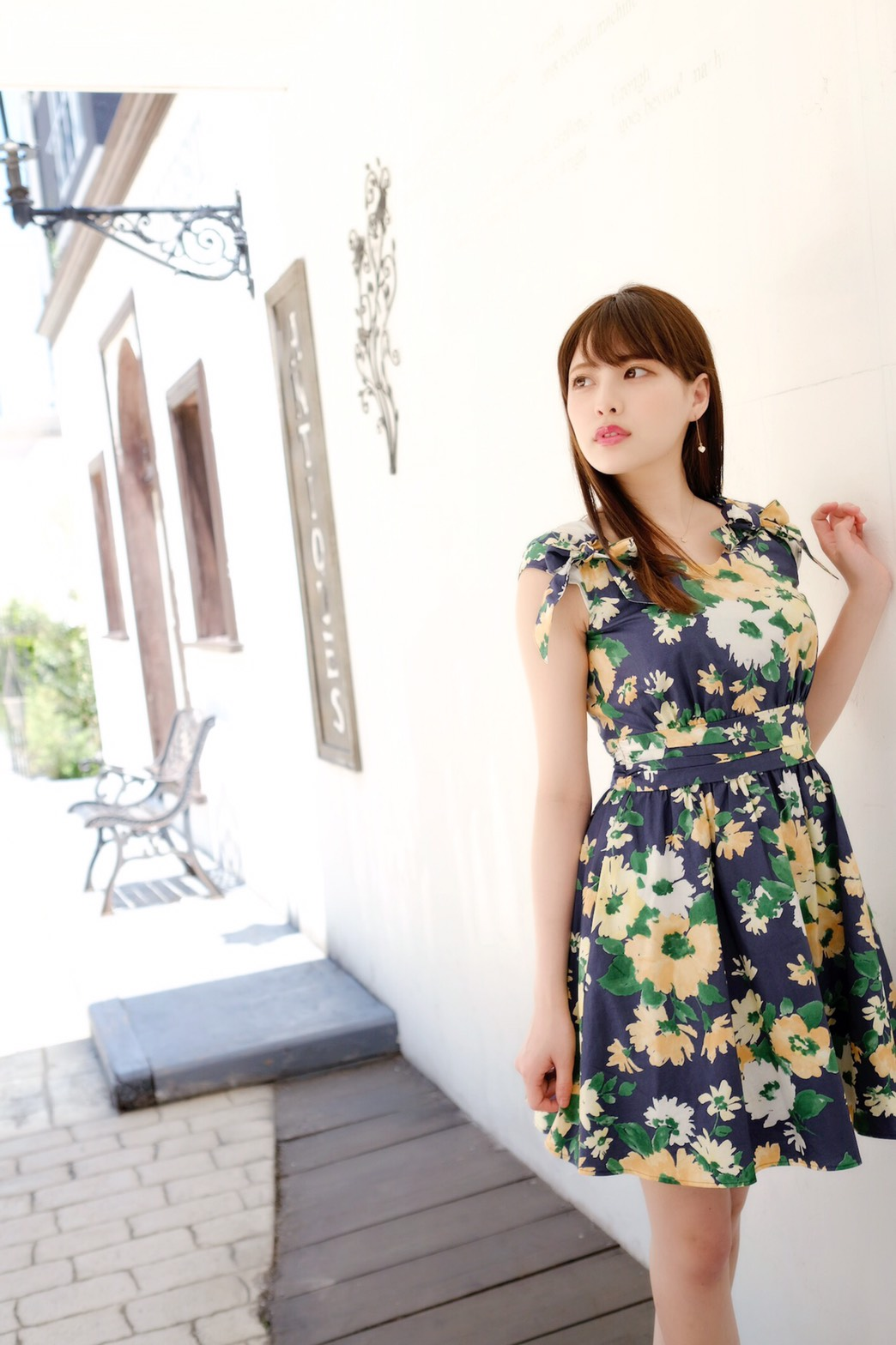 【SALE】【selva secreta】FRENCH FLOWER DRESS(navy)