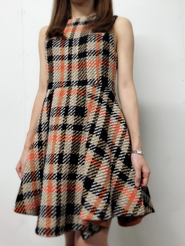 【selva secreta】WOOL CHECK  DRESS(beige)