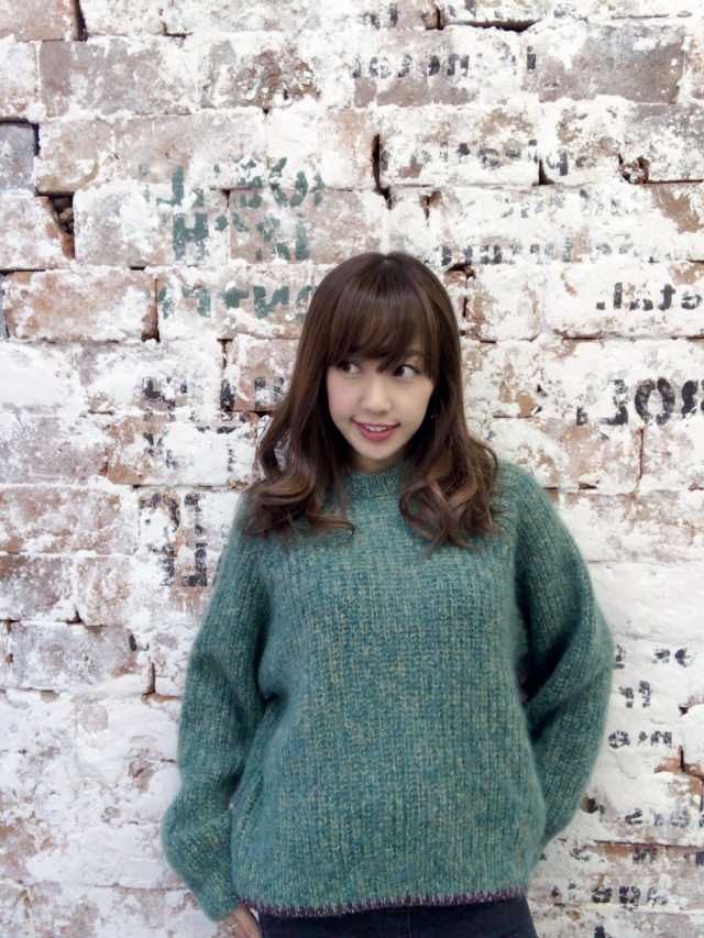 【selva secreta】MOHAIR KNIT(mix-green)