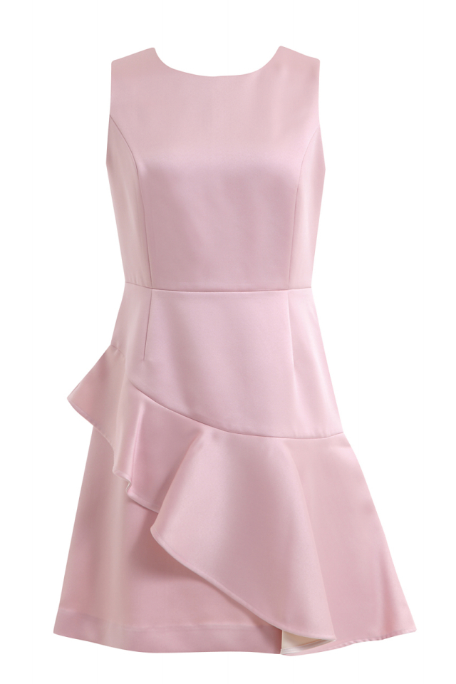【selva secreta】FRILL CHAMPAGNE DRESS(pink)