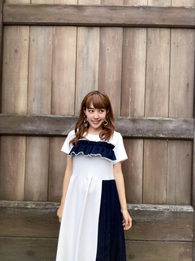 【selva secreta】POINTE DENIM DRESS (white)