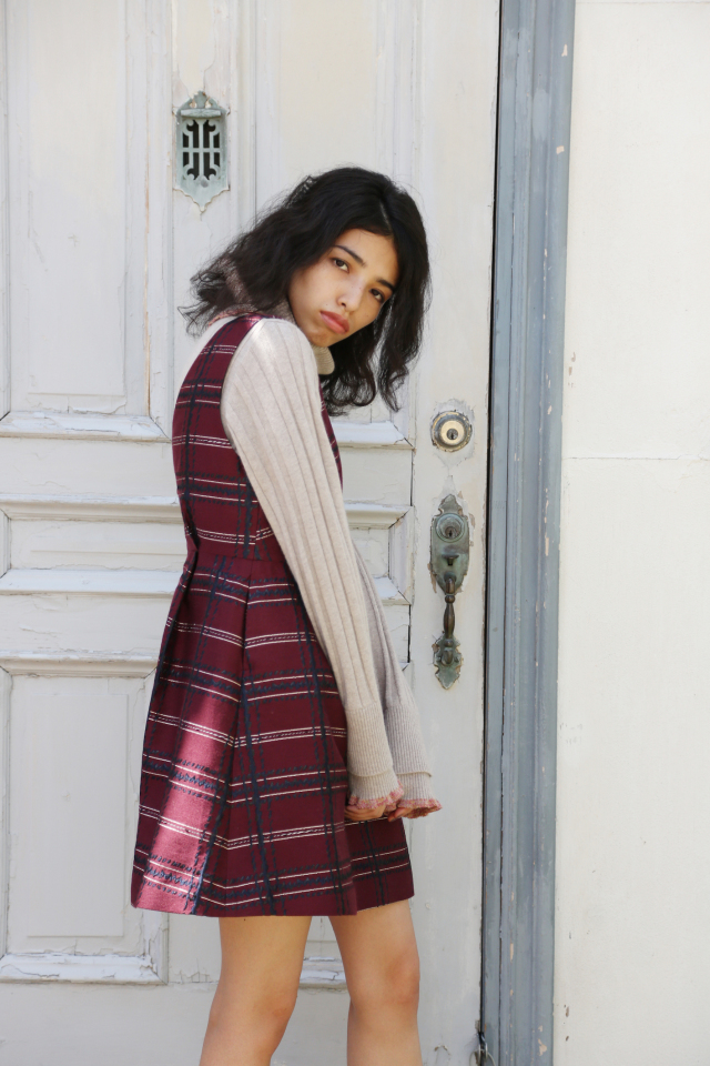 【予約販売】【selva secreta】JUMPER DRESS(red)