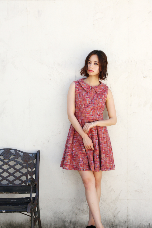 【予約販売】【selva secreta】TWEED DRESS(pink)