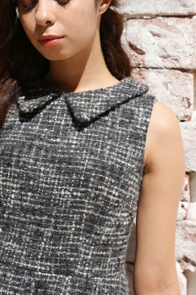 【selva secreta】TWEED DRESS(black)