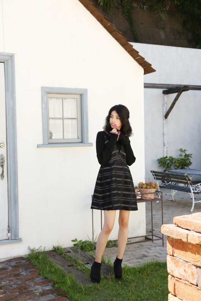 【selva secreta】JUMPER DRESS(black)