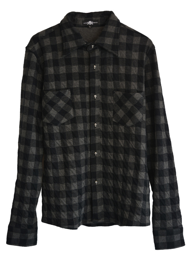 【ANTIMINSS】 COTTON DOUBLE CHECK SHIRT