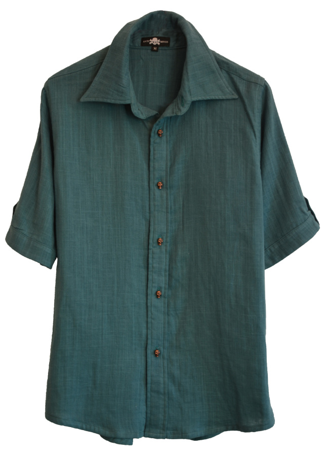 【ANTIMINSS】 RESORT SHIRT (GREEN)