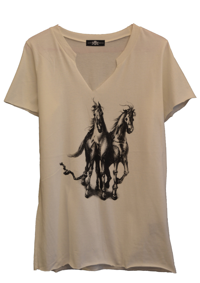 【ANTIMINSS】HORSE T-SHIRT (WHITE)