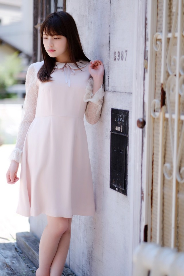 【SALE】【selva secreta】LACE FRENCH DRESS (pink)