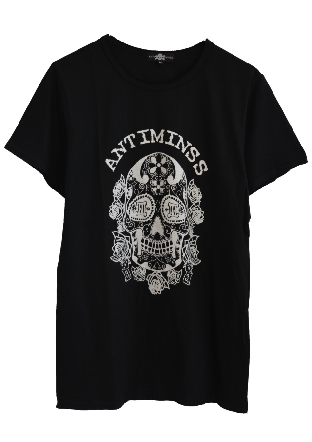 【ANTIMINSS】MEXICAN SKULL T-SHIRT (U-neck)