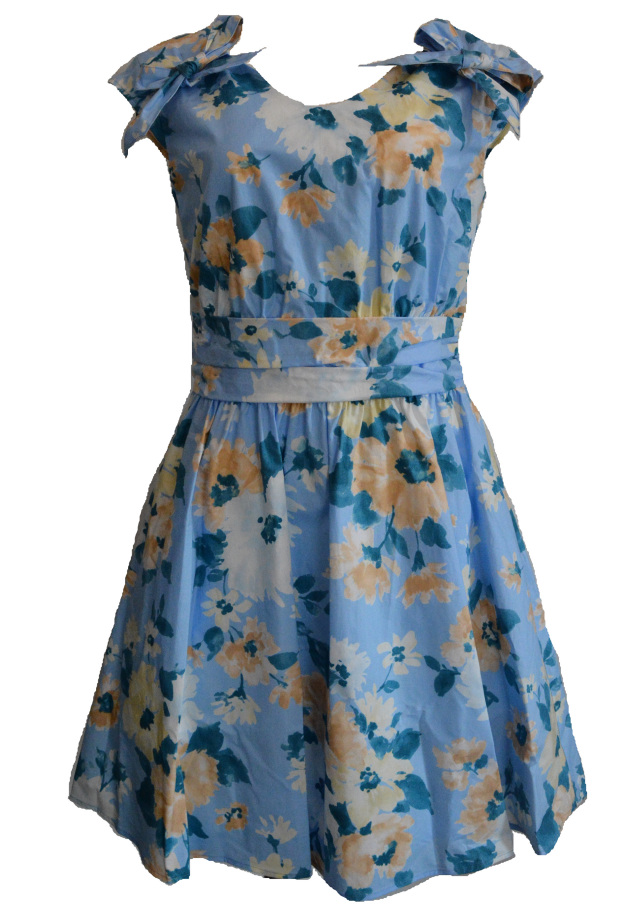 【selva secreta】FRENCH FLOWER DRESS(light-blue)