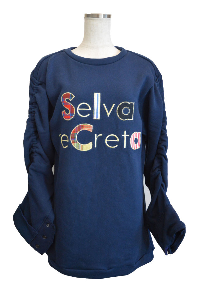 【selva secreta】applique sweat(navy)