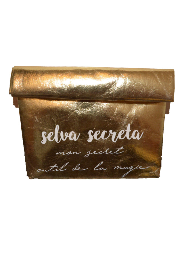【予約販売】【selva secreta】LUNCH BAG (metallic gold)