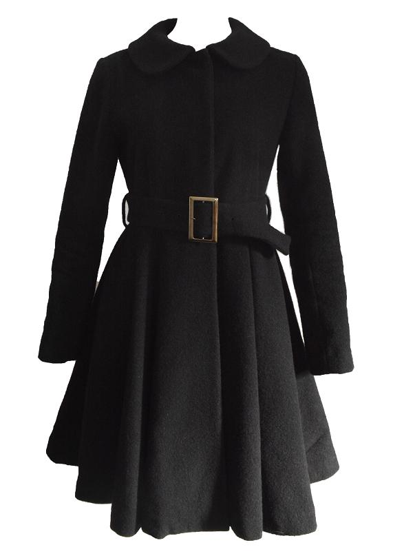 【SALE】【selva secreta】WOOL FLARED COAT (black)