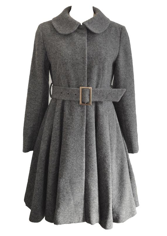 【selva secreta】WOOL FLARED COAT (gray)