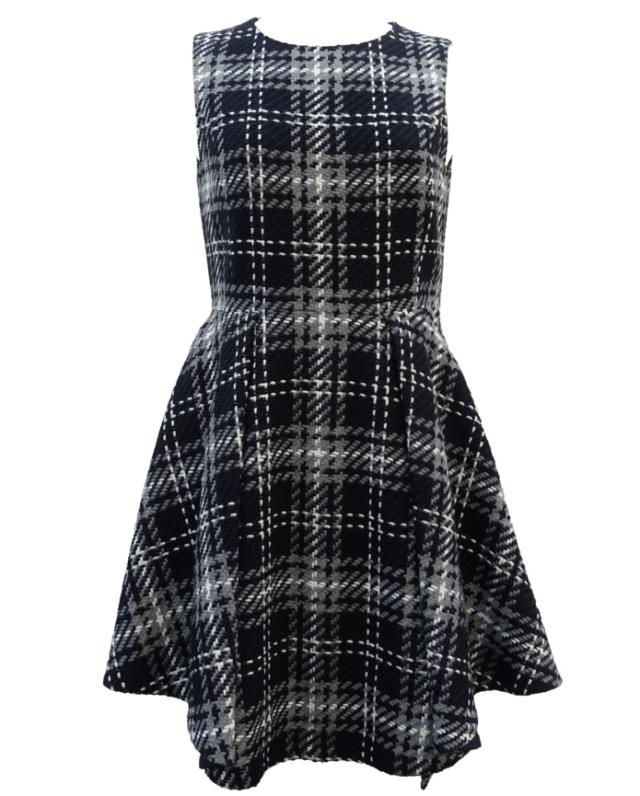 【selva secreta】WOOL CHECK DRESS(black)