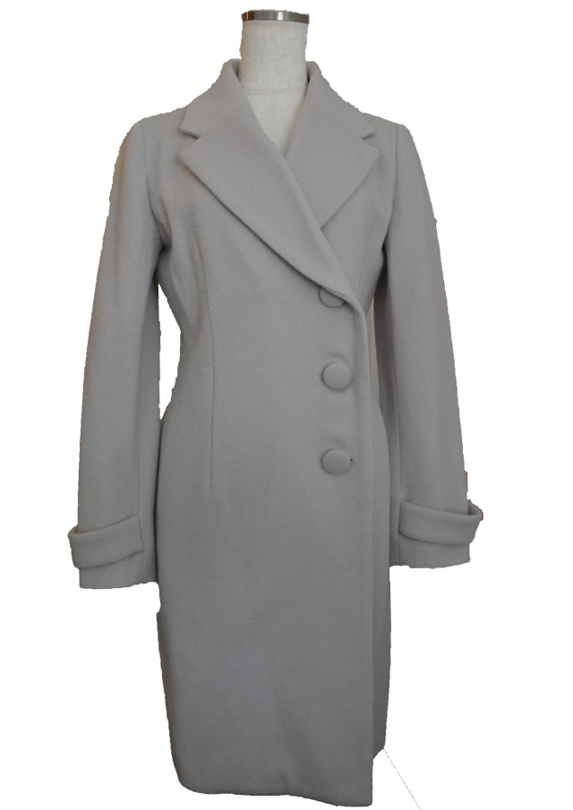 【selva secreta】WOOL LONG COAT(light gray)