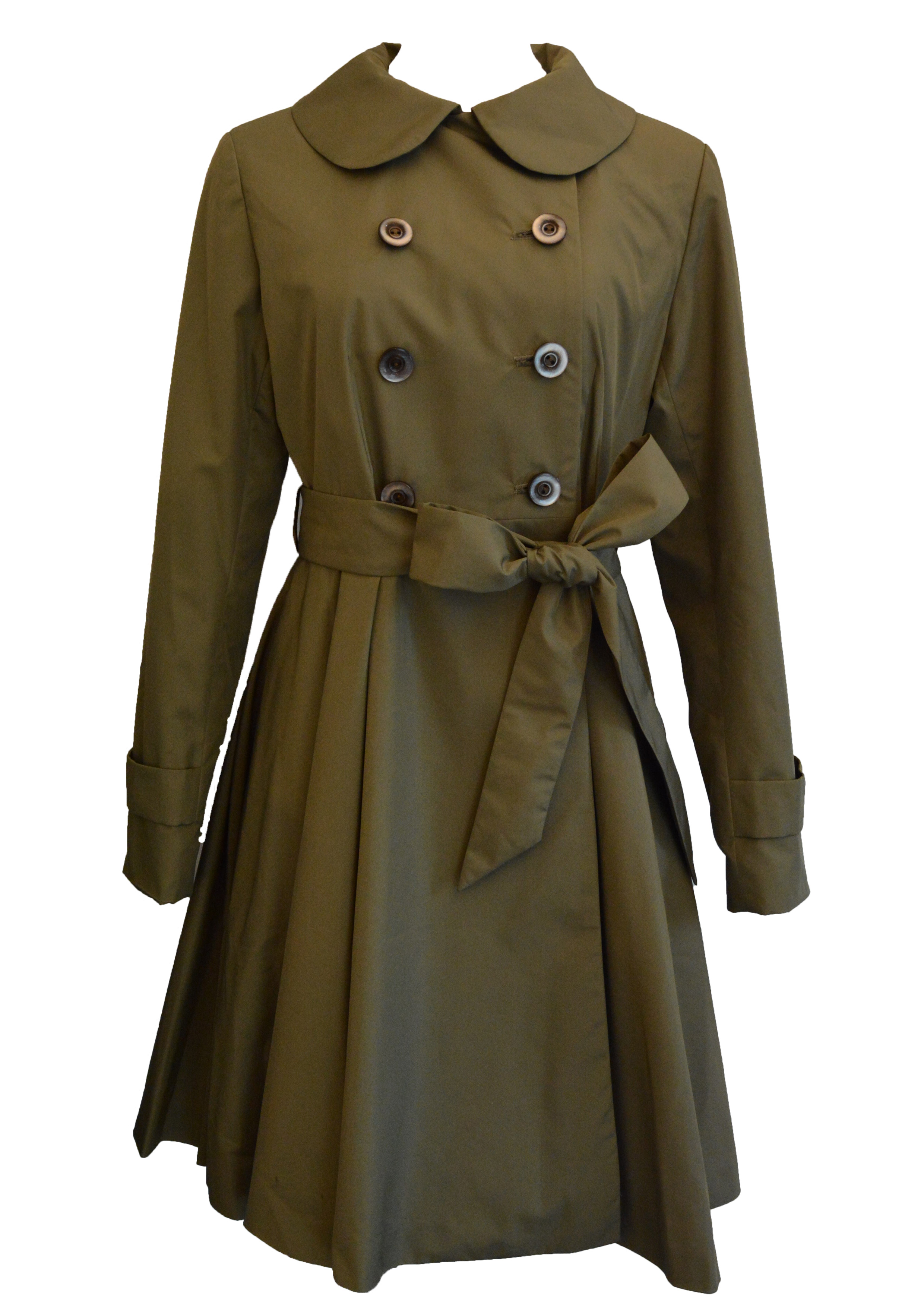 【selva secreta】SPRING FLARED  COAT(khaki)