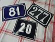 HAA1254 フレンチホーローハウスナンバー3枚セット